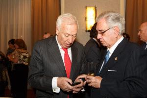José Manuel García Margallo junto con Ramón Rodríguez Arribas